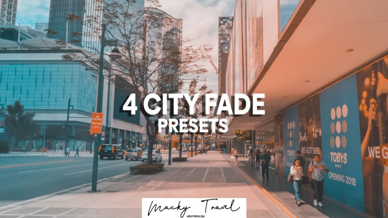 4 premium city fade lightroom presets
