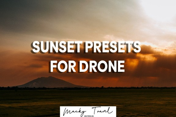 sunset lightroom presets for drone