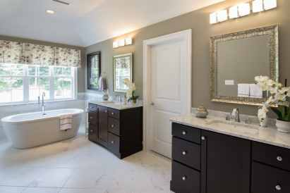 White Carrara Marble Twin Vanity Countertops