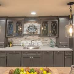 Replacement Shelves For Kitchen Cabinets Wood Mode Kitchens Shabby-chic Basement Remodel- West Chester, Pa - Maclaren ...
