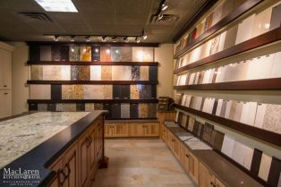 Sample Selection for custom Countertops and Cabinetry