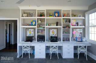 Family Oriented Study Room with Arrowroot Corian