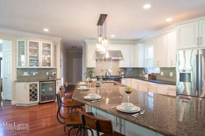 Custom Island Countertop to match an Angular Kitchen Design