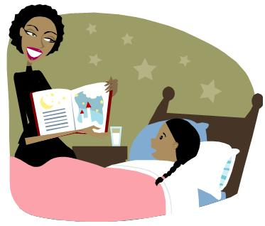 Bedtime story -Clipart