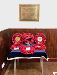 Shows our wreaths on Remembrance Sunday 2019