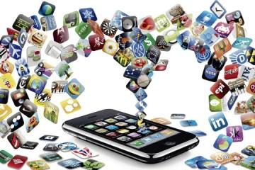 Centenas de apps saindo de um iPhone 3GS
