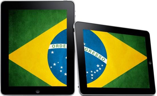 iPad com a bandeira do Brasil