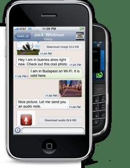 WhatsApp Messenger no iPhone e BlackBerry