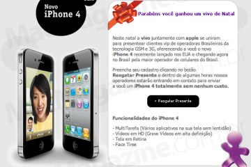 Golpe usando Vivo e iPhone 4