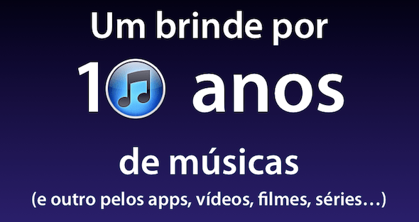 Aniversário de 10 anos do iTunes