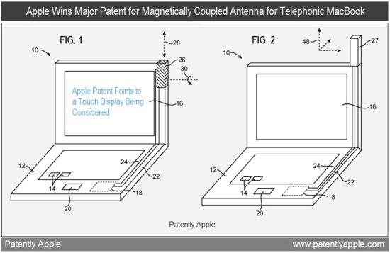 Patente de antena magnética para MacBooks