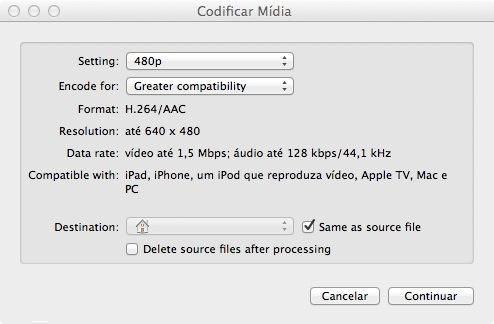 Codificação de vídeos diretamente no Finder do Mac OS X Lion