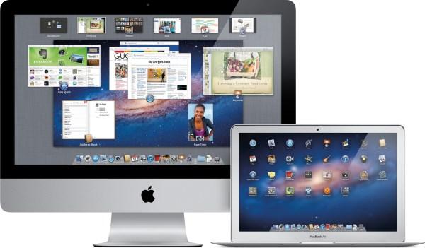 iMac e MacBook Air com o OS X Lion