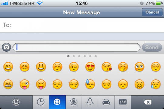 Emoji no iOS 5