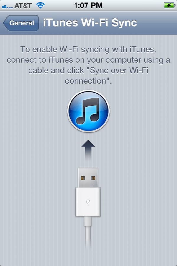 iTunes Wi-Fi Sync no iOS 5 beta 3