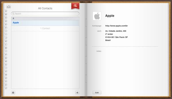 Contacts no iCloud.com
