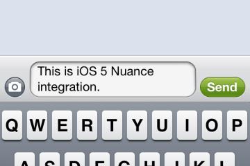 Speech recongnition da Nuance do iOS 5 beta 5