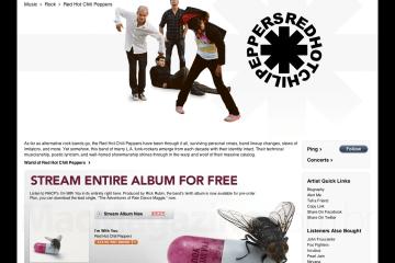 Red Hot Chilli Peppers de graça na iTunes