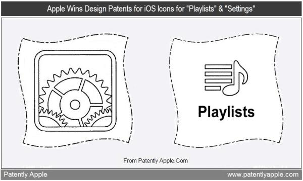 Design de ícones de configurações e playlists