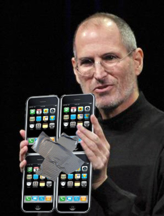 Big iPhone nas mãos do Steve Jobs