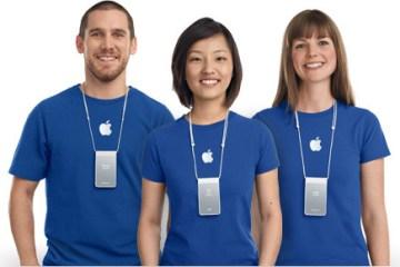Empregados de Apple Retail Stores - lojas da Maçã