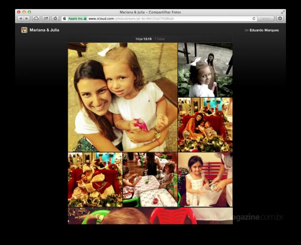 Álbum público do recurso Compartilhar Fotos