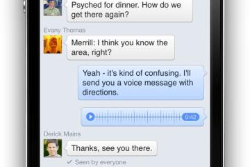 Voz no Facebook Messenger do iPhone
