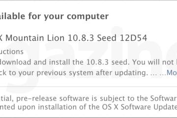 Beta do OS X 10.8.3