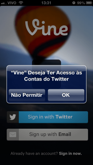 Vine no iPhone