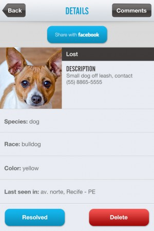 Screenshot do Petts.me