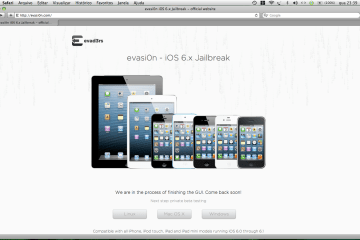 Evasi0n site - screenshot