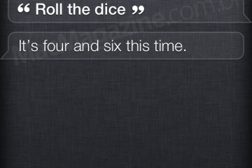 Siri ajudando na sorte