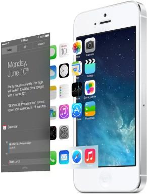 Camadas da interface do iOS 7