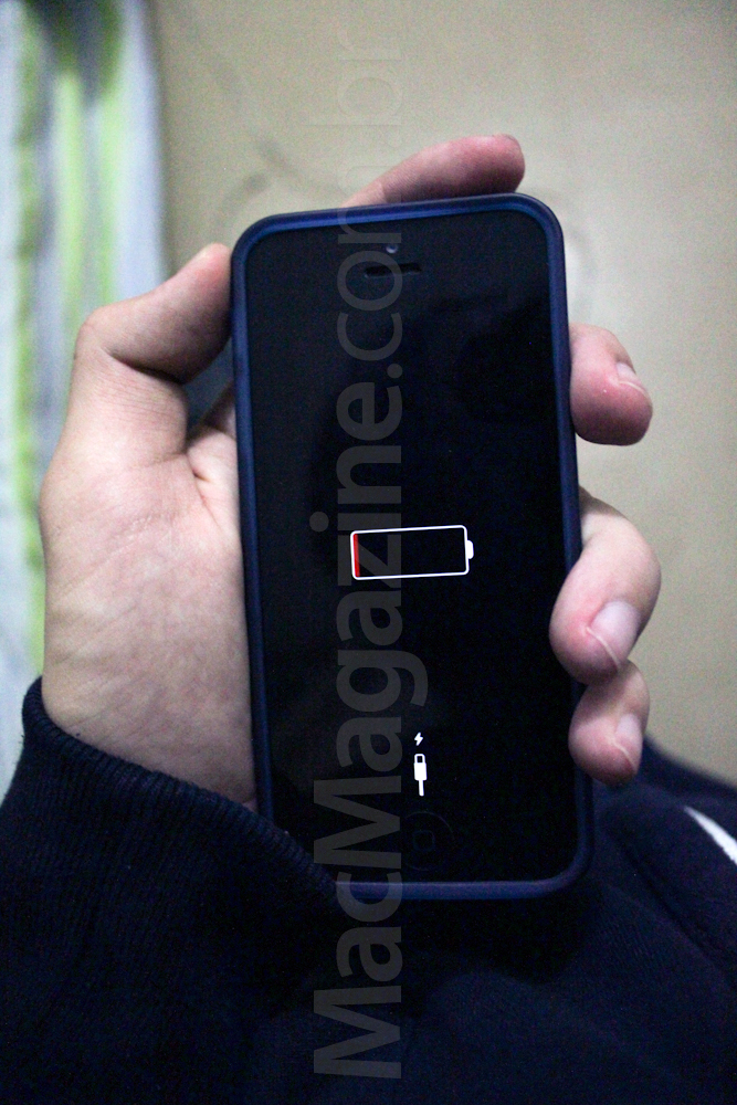 iPhone com iOS 7 sem bateria