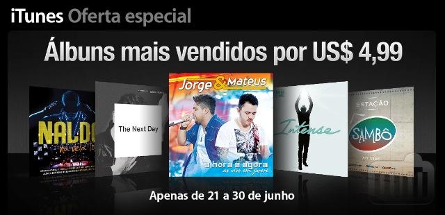 Oferta de álbuns na iTunes Store
