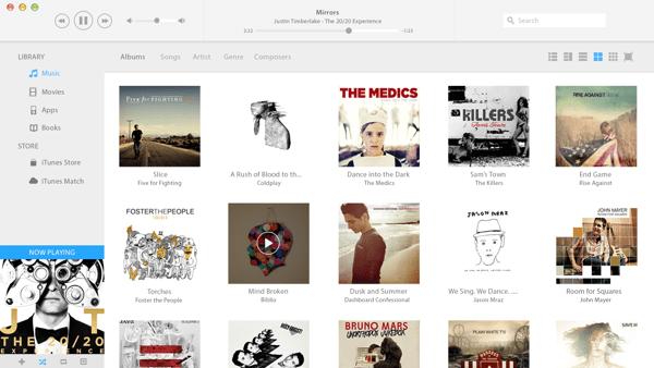 Redesign do iTunes