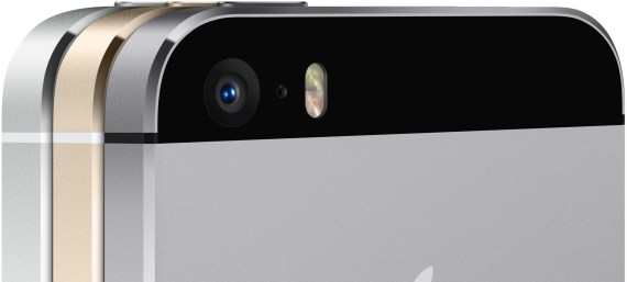 Câmera iSight e flash LED duplo do iPhone 5s