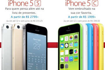 iPhones na Apple Online Store brasileira
