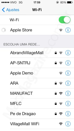 Wi-Fi da Apple Store - VillageMall