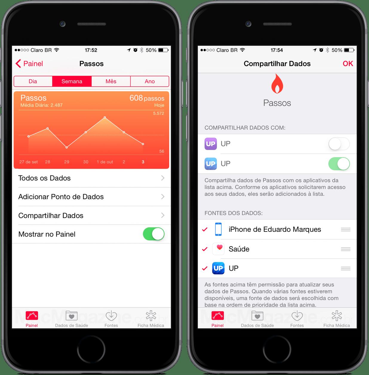 App Saúde (Health), do iOS 8