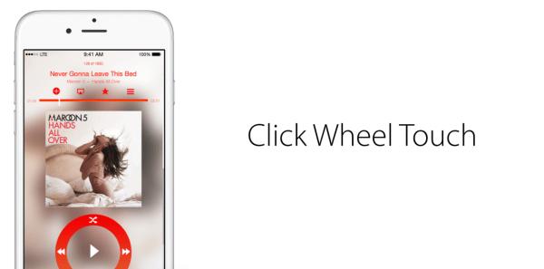 Conceito Click Wheel Touch