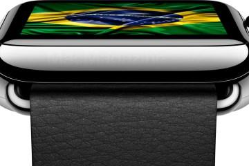 Apple Watch com a bandeira do Brasil