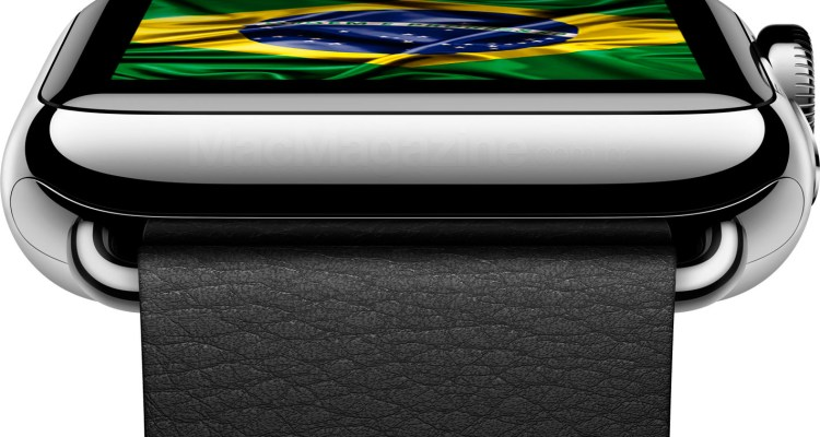 Apple Watch com a bandeira do Brasil
