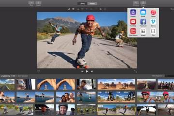 Screenshot do iMovie para Mac