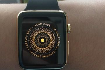 Caixa do Apple Watch Edition (ouro)