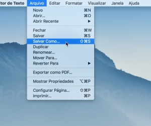 Salvar Como… no menu Arquivo do Editor de Texto
