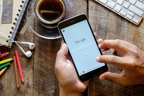 Usando o Google em um iPhone