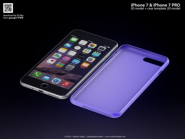 "Mockup do ""iPhone 7"", por Martin Hajek"