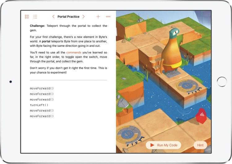 App Swift Playgrounds no iPad