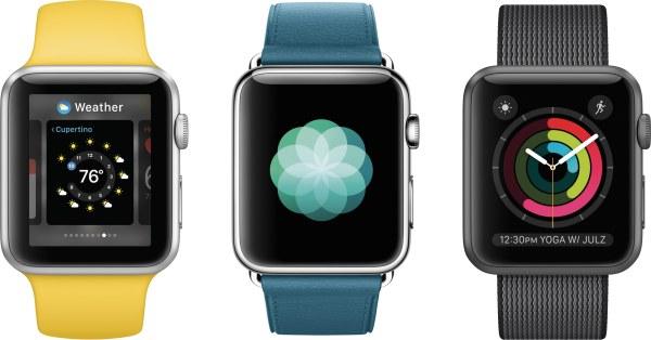 watchOS 3 rodando em Apple Watches